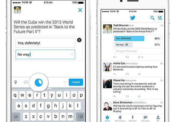 Twitter вводит опросы пользователей