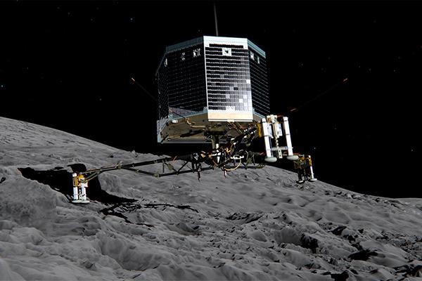Опубликовано видео высадки Philae на комету