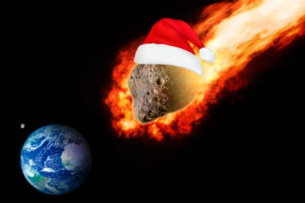 NASA показало рождественский астероид