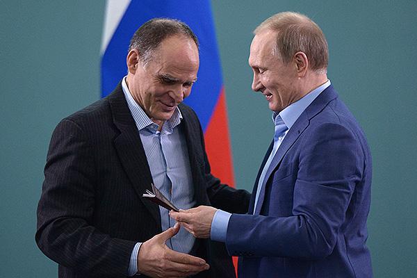 Эцио Гамба и Владимир Путин. Фото: Алексей Никольский/ТАСС