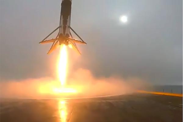 Видео крушения ракеты Falcon попало в Сеть