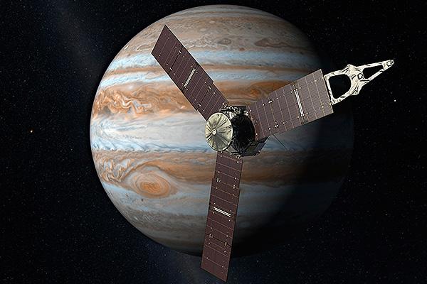 Космический корабль достиг Юпитера