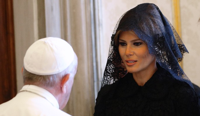 папа римский смутил меланью трамп