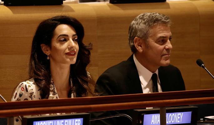Супруга Джорджа Клуни родила двойню