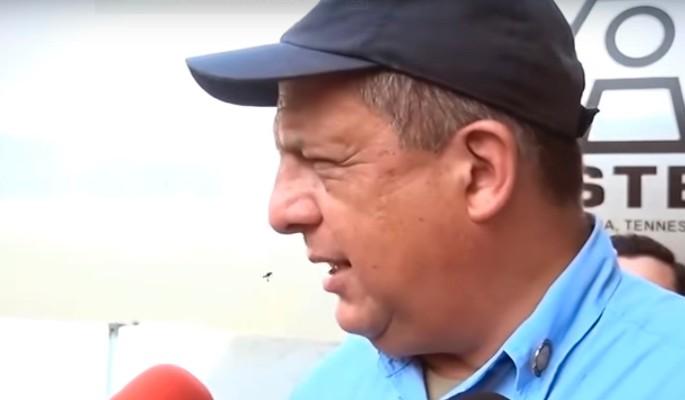 Президент Коста-Рики съел осу