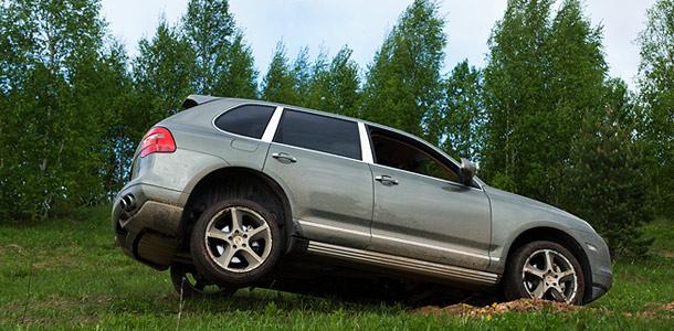 Тест-драйв Porsche в болоте