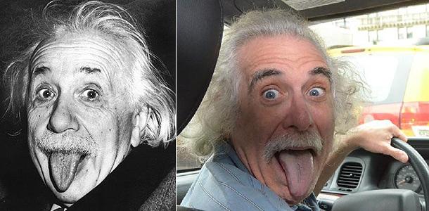 фото с языком эйнштейн