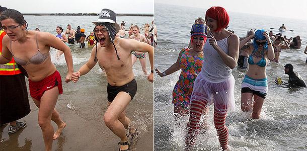 Голландцы устроили новогодний заплыв