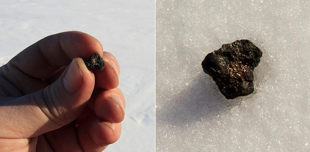 В озере нашли фрагменты метеорита