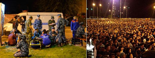 Фанаты устроили погром в Алма-Ате