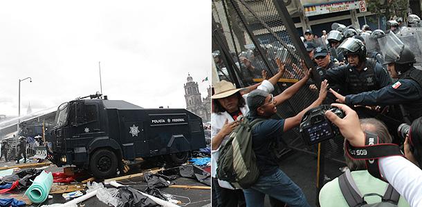 В Мехико учителей разогнали танками
