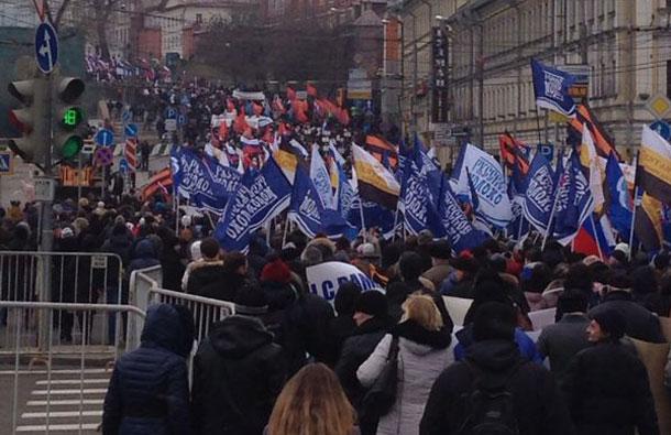 В Москве прошло шествие за Украину