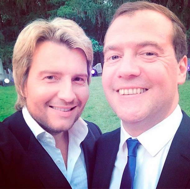 Николай Басков и Дмитрий Медведев. Фото: instagram.com/nikolaibaskov