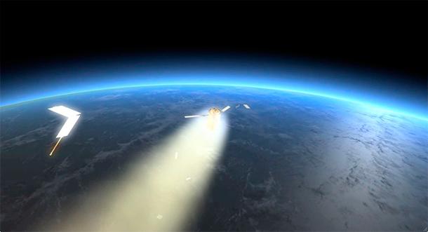 Советский спутник сошел с орбиты