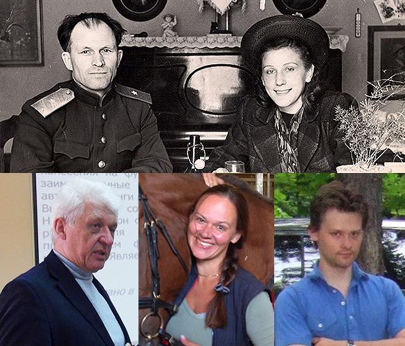 Григорьевы Василий и Нина (вверху), Юрий, Екатериа и Василий (внизу). Фото из архива Дней.Ру