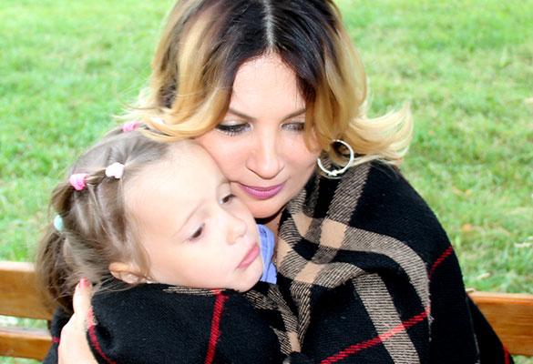 """Ая и дочь Дима и Маши Оливия. Фото: пресс-служба группы """"Город 312"""""""