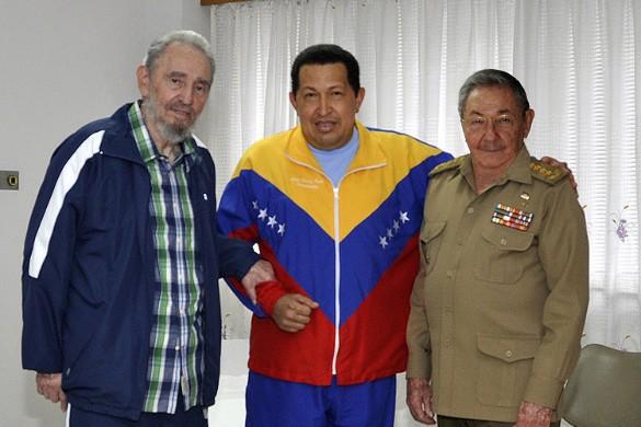 Фидель Кастро, Уго Чавес, Рауль Кастро. Фото: GLOBAL LOOK press/x99
