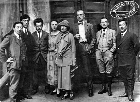 Сергей Эйзенштейн (третий слева) с Лилей Брик, Владимиром Маяковским и другими. Фото: wikimedia.org