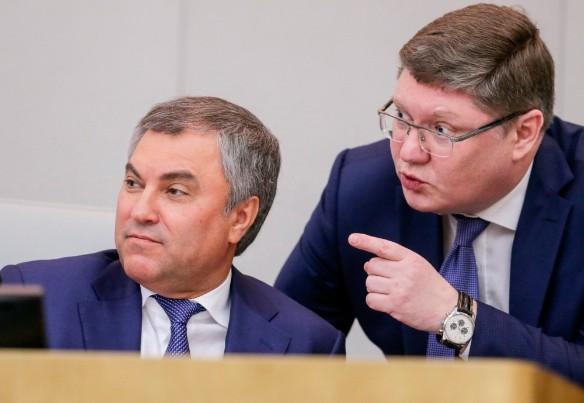 Вячеслав Володин и Андрей Исаев. Фото: duma.gov.ru
