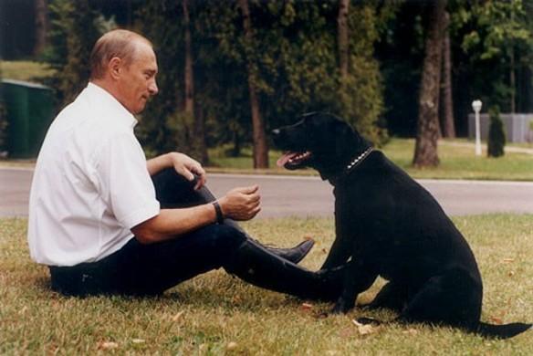 Владимир Путин и Конни. Фото: wikipedia.org