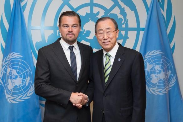Леонардо ДиКаприо и Пан Ги Мун. Фото: UN Photo