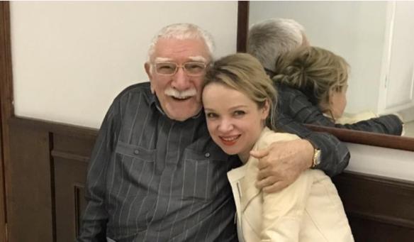Армен Джигарханян и Виталина Цымбалюк-Романовская. Фото: facebook.com/vitalina.romanovskaya