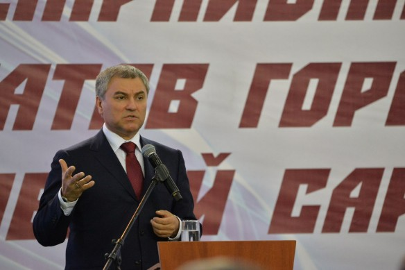 Вячеслав Володин. Фото: vk.com/saratovgovernor