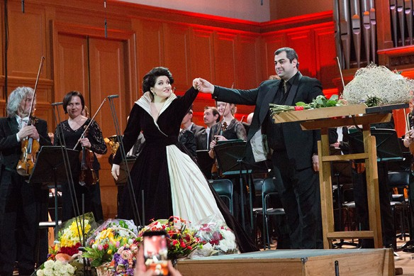 Арсен Согомонян и Хибла Герзмава. Фото: Пресс-служба