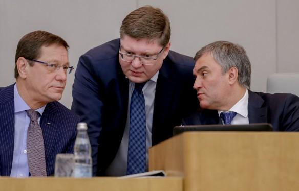 Александр Жуков, Андрей Исаев, Вячеслав Володин. Фото: duma.gov.ru