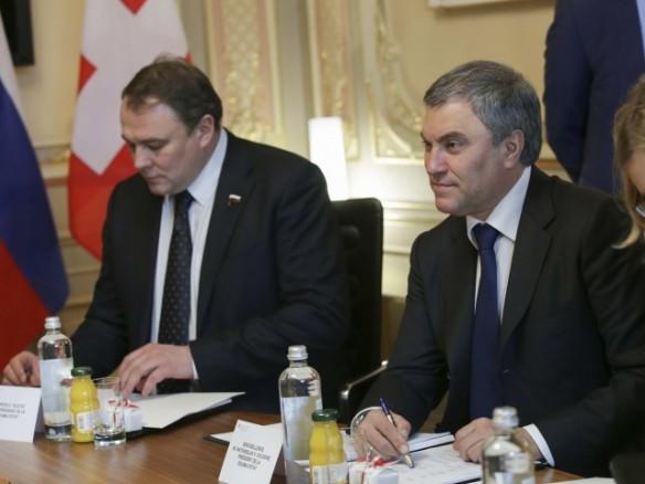Вячеслав Володин и Петр Толстой. Фото: duma.gov.ru