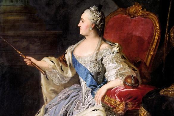 Портрет Екатерины II, Федор Рокотов. Общественное достояние