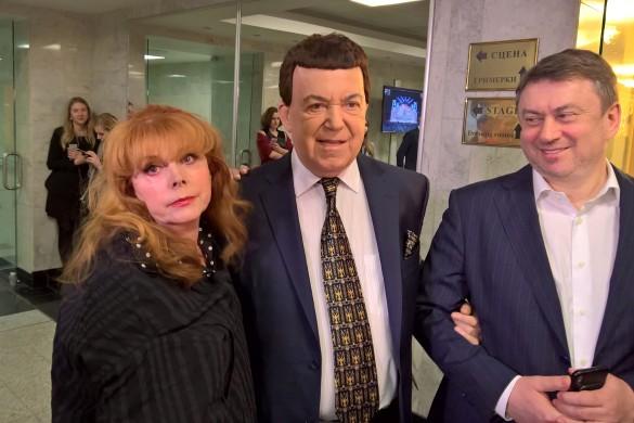Клара Новикова, Иосиф Кобзон и Александр Достман. Фото: Dni.Ru/Феликс Грозданов