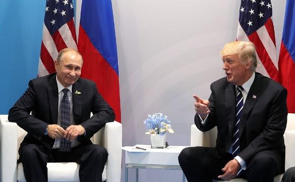 Дональд Трамп и Владимир Путин.  Фото:kremlin.ru