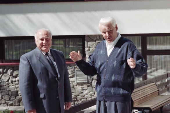Виктор Черномырдин и Борис Ельцин. Фото: Майстерман Семен/Фотохроника ТАС