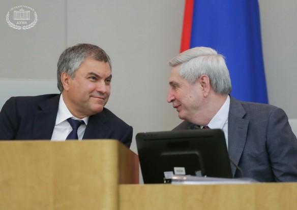 Вячеслав Володин и Иван Мельников. Фото: duma.gov.ru