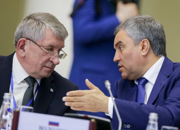 Вячеслав Володин (справа). Фото: vk.com/duma