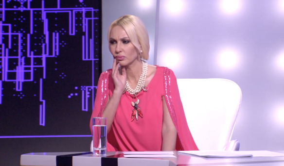 """Лера Кудрявцева. Кадр из программы """"Секрет на миллион""""."""