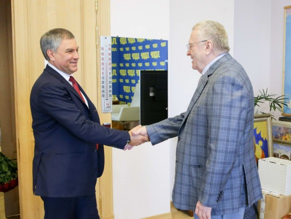 Вячеслав Володин и Владимир Жириновский. Фото: vk.com/duma