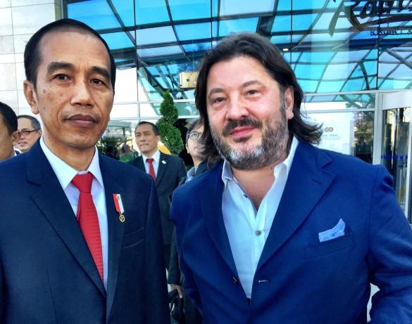 Александр Шульгин с президентом Индонезии Джоко Видото. Фото: из личного архива Александра Шульгина