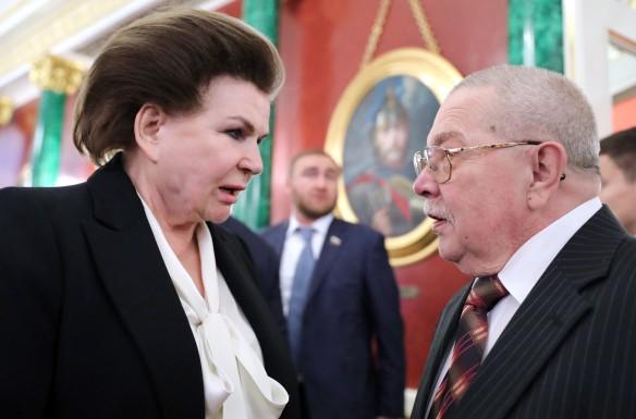Валентина Терешкова и Евгений Хорошевцев. Фото: Михаил Климентьев/ТАСС