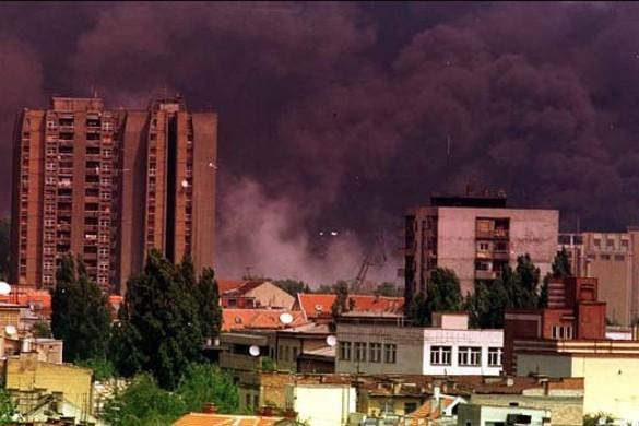 Бомбардировка в Югославии. Фото: wikimedia.org