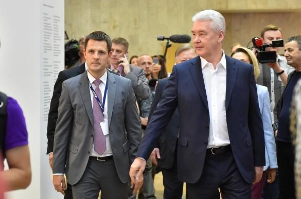 Сергей Собянин и Сергей Кузнецов. Фото: stroi.mos.ru