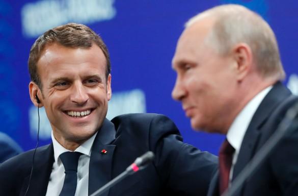 Владимир Путин и Эммануэль Макрон. Фото: GLOBAL LOOK press/TASS Host Photo Agency