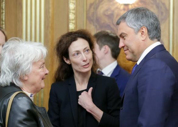 Вячеслав Володин и Лусия Тополански. Фото: vk.com/duma