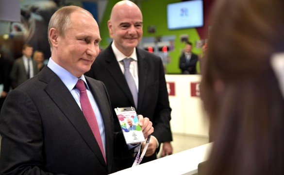 Владимир Путин и Джанни Инфантино. Фото: kremlin.ru