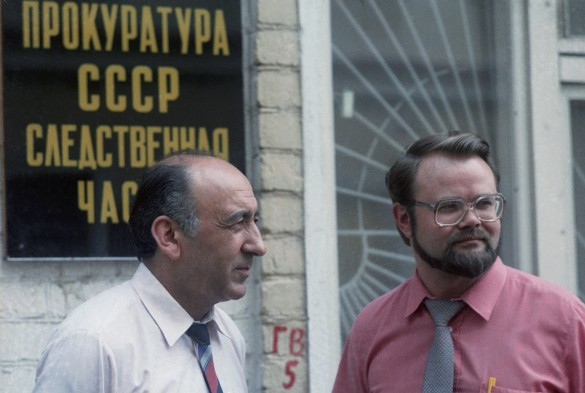 Тельман Гдлян и Николай Иванов. Фото: Коротков Андрей/Фотохроника ТАСС