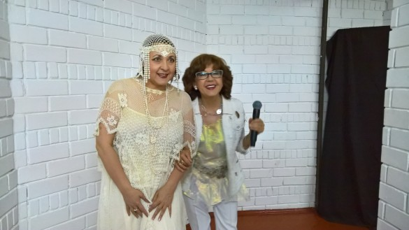 С Мариной Капуро за кулисами Летнего амфитеатра в Витебске. Фото: Dni.Ru/Феликс Грозданов