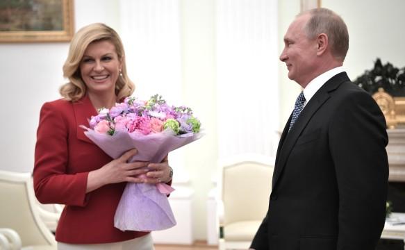 Колинда Грабар-Китарович и Владимир Путин. Фото: kremlin.ru