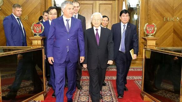 Вячеслав Володин и Нгуен Фу Чонг. Фото: duma.gov.ru