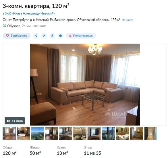 Скриншот spb.cian.ru